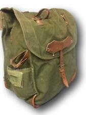 Romanian True Vintage RuckSack, Leather Trim