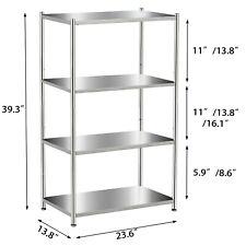 Stainless Steel Shelving Unit Storage Shelves 34 Tier Heavy Duty Kitchen Shelf