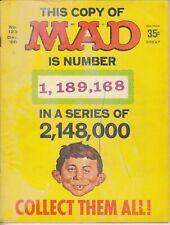 MAD #123,176 1968 E.C. B&W -ALFRED E. NEUMAN -SPY-VS-SPY- 'RED BARON'..VG  2bks