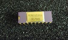 # 2 Motorola MCM2147L85X Collectible Vintage Ic Gold Plated Cap & Legs Rare Cpu
