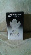 Lead Crystal Angel Bell Frosted Glass Elegant Stylish Wings Christmas Xmas.