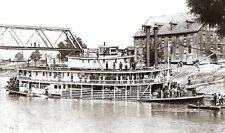 CHAPERON, ex J.C. Kerr, Choctaw. Heckraddampfer, Ohio, USA. Modellbauplan