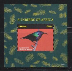 GHANA 2015 BIRD STAMPS SUNBIRDS OF AFRICA  SS MNH - BIRDL472