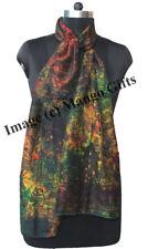 Indian Silk Sari Tie-Dye Scarf Wrap Dupatta Women Fashion Scarves Wholesale 50Pc