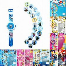 New Kids Cartoon Watch Digital Automatic Projector Wristwatches Frozen Toys Gift