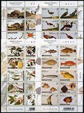 Singapur Singapore 2002 Pflanzen Vögel Fische Tiere Zeichnungen 1090-1129 MNH