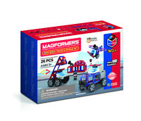Magformers Amazing Police And Rescue Set 26PC Magnetic Construction Toy Ages 3