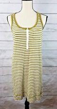 J Crew Dress Size Small Green Striped Sundress Tank short top tunic sleeveless