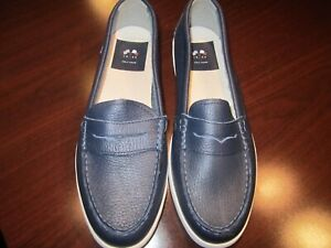 NEW Cole Haan Grand Pinch Marine Classic Blue Penny Loafer Boat Shoe womans 9