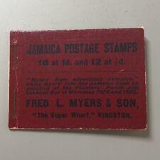 JAMAICA BOOKLET 1928, SG# SB4, CV £2000