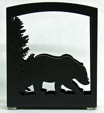 BEAR NAPKIN HOLDER MAIL HOLDER RUSTIC LODGE METAL ART CABIN DECOR MADE IN USA
