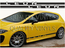 Seat leon side racing stripes graphics decals RS191 stickers