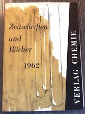 Verlag Chemie-Katalog 1962: Zeitschriften und Bücher