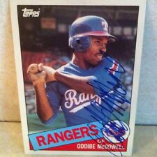 1985 Topps Traded Oddibe McDowell Auto Signed Card
