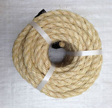 20 MTS X 14 MM NATURAL SISAL ROPE , GARDENS, PLANTS, TIMBER WORK, PET TOYS