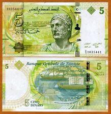 Tunisia, 5 Dinars, 2013 (2014), P-95, UNC > Hannibal