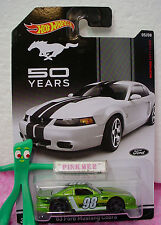 2014 Hot Wheels 50 Years #5 '03 FORD MUSTANG COBRA☆Green; 98☆Walmart Exclusive