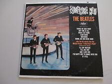 BEATLES-SOMETHING NEW--VINYL LP RECORD-RARE RAINBOW LABEL COLOR ERROR-CAP T 2108