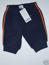 NWT Gymboree Fun in the Snow 0-3 Mths Navy Blue & Orange Bear Paw Fleece Pants