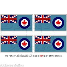 """CANADA Canadian AirForce RCAF Flag 50mm (2"""") Vinyl Bumper Stickers, Decals x4"""