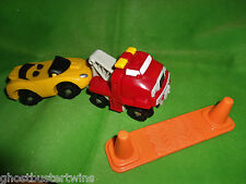 FISHER PRICE GEOTRAX LIFT N GO TOW TOWING TRUCK CAR TRACK RAILROAD TRAIN SET LOT
