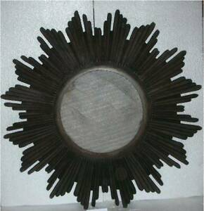 Wall Mirror Round Home Sun Burst room panel MDF & Glass