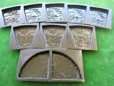 10 Rustic Yorkstone Paver Moulds - Rotunda Round Circle Landscaping Yard