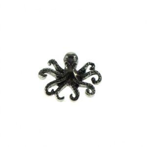 Octopus Pewter Lapel Pin Badge/Brooch Nautical Squid Kraken Steampunk Pirate BNW