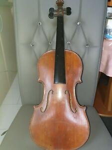 Rissfreie alte Violine Inschrift.Emile Germain a Paris Montemartre 1898