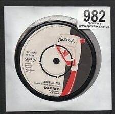 DAMNED - LOVE SONG - PUNK CHISWICK  RCA  ORIGINAL UK VINYL RECORD COASTERS 982