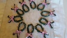 10 Fische Buchsbaum Deko Tischdeko Taufe Konfirmation Kommunion Hochzeit Perle