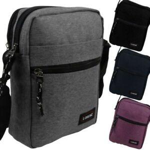 Lorenz Compact Denim Look Cross Body Shoulder Bag Travel