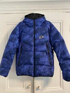 nike sportswear down-fill windrunner Blue void/black size S