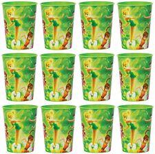 12x Disney Tinkerbell Plastic Reusable Cups 16oz ~Birthday Party Favors~