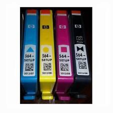 4 HP SETUP 564 Inkjet Cartridges Set Photo Black Cyan Magenta Yellow