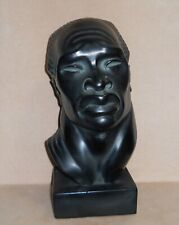 New listing Vintage Sculpture African Female Tribal Head Bust American Artist Fred Press