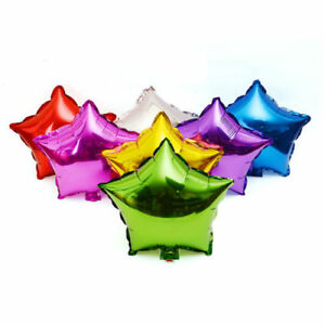 5x Star Foil Balloon Helium Baby Shower Graduation Party Prom Birthday Float USA