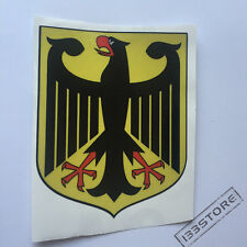 4'' German Flag Coat of Arms Eagle Germany Car Decal Sticker for VW Benz Audi