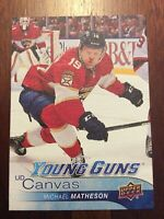 UD 2016-2017 SERIES ONE MICHAEL MATHESON YOUNG GUNS CANVAS CARD C-102