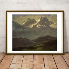 30x22 Inch Albert Bierstadt Summer Snow On The Peaks Or Snow Capped Mountains