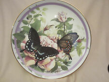 Spicebush Swallowtail collector plate Butterfly Garden Paul Sweany Rose