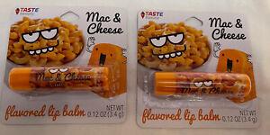 Taste Beauty The Taste Squad Lip Gloss Creamy Cute Mac & Cheese Flavored Lot 2