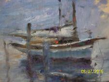 Vernon Broe American Listed Artist Original Oil/Gouache Seascape Painting