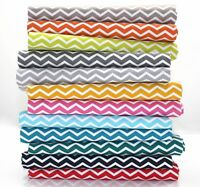 MONO CHEVRON STRIPE 100% COTTON FABRIC Ex wide 150cm zig zag Quilting Craft