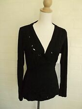 table eight black hippie style stretch top NWT  $49.99