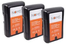 3x Nomis V-mount Batterie 95wh 14,4 V 6600 mAh F. Sony bp-95ws D-tap USB Sortie