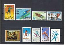 Winter Olympic games 1980 Anguilla Mongolia Niger Russia Central Africa Mnh
