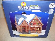 "Santa's Workbench ""Silver Birches Lodge"" lighted Christmas Village house    1256"