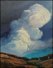 Wm HAWKINS  California  Cloud  Landscape Impressionism Oil Painting Original Art