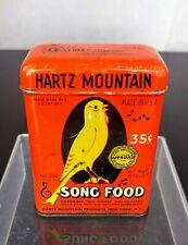 VTG Hartz Mountain Tin Song Food Orange USA Bird Canary Advertising USA